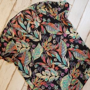 Sheer blouse floral print Large.